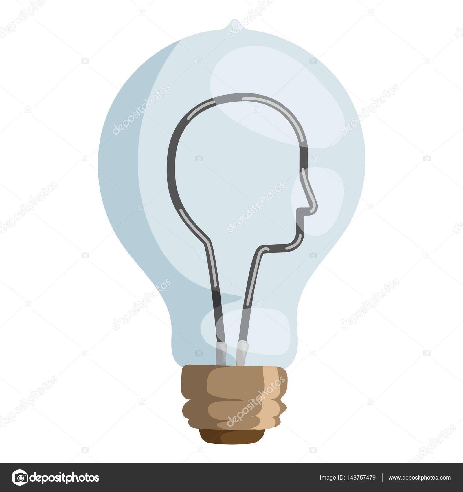 Lampe Vektor Konzept Abbildung isolierte Design Innovation ...