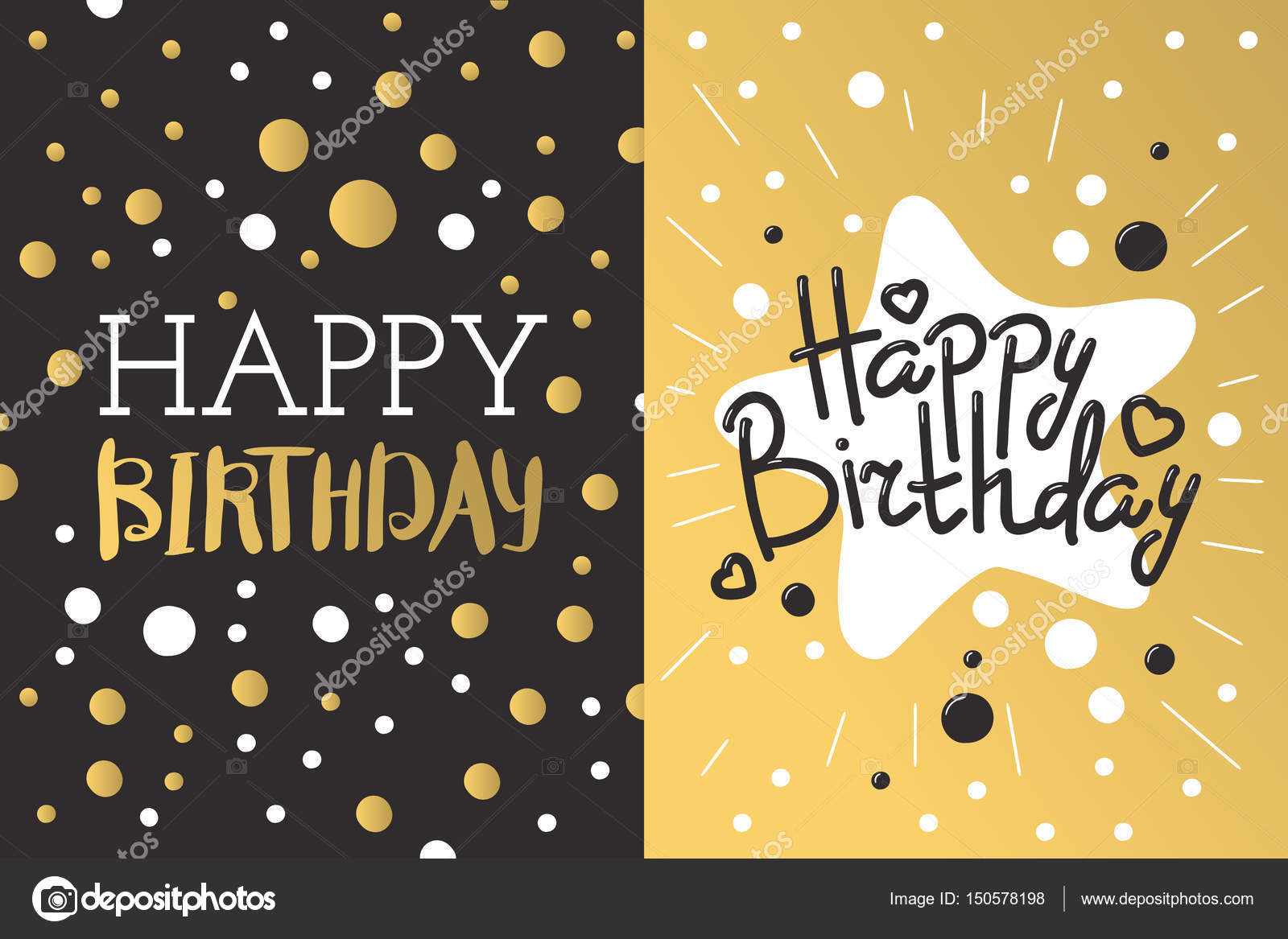 Beautiful birthday invitation card design gold and black colors beautiful birthday invitation card design gold and black colors vector greeting decoration strips lettering calligraphy text for party festive cartoon filmwisefo