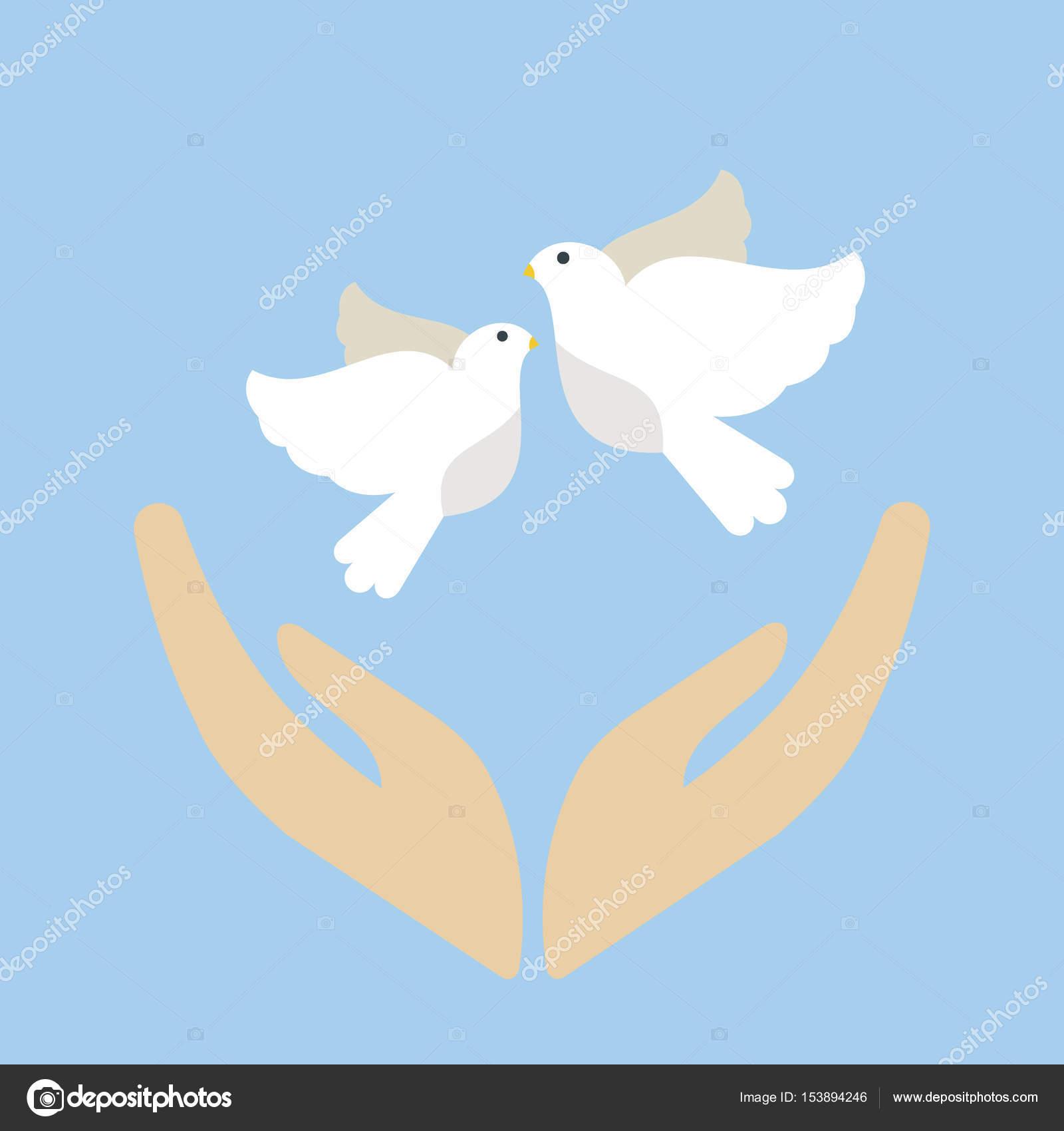 Imágenes Paz Animadas Paloma Volando Aves Vector Ilustración De