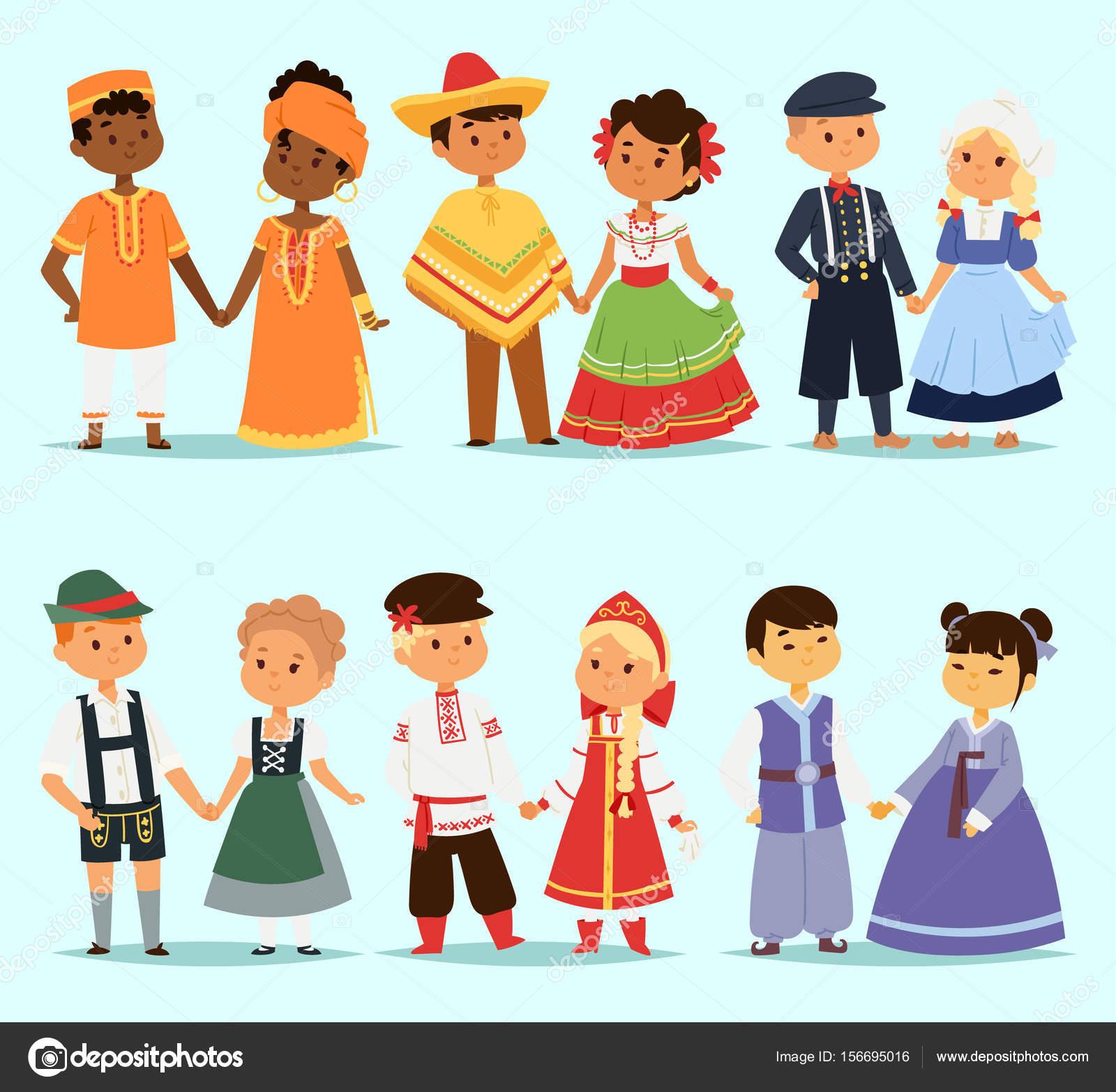 Картинки детей разной национальности в полный рост