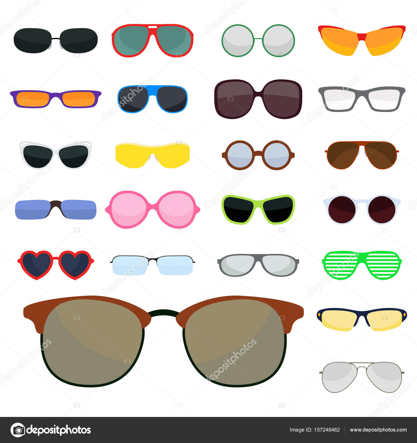 Fashion set sunglasses accessory sun spectacles plastic frame modern ...