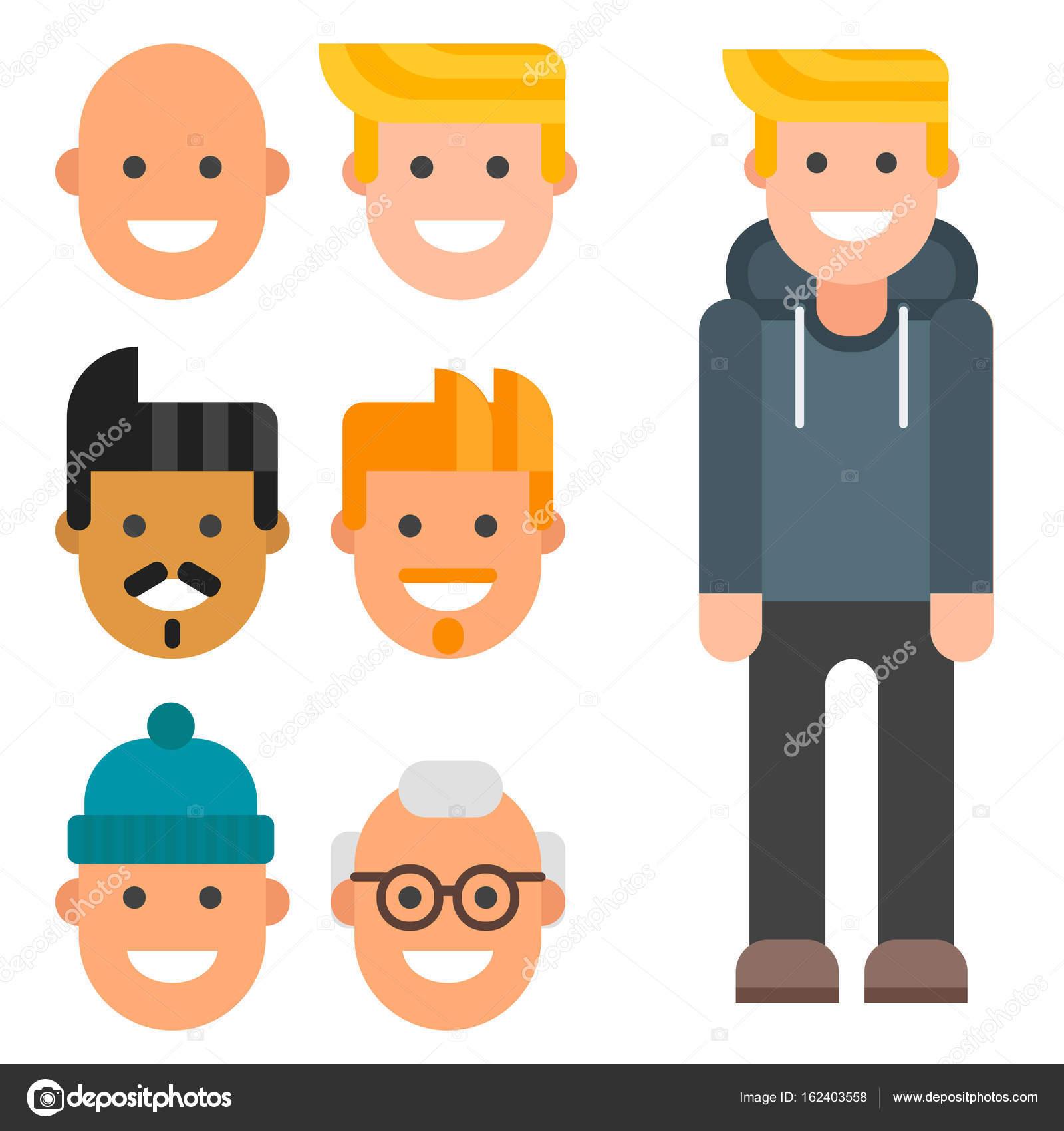 man constructor body avatar creator vector cartoon character rh depositphotos com online vector creator vector creator online free