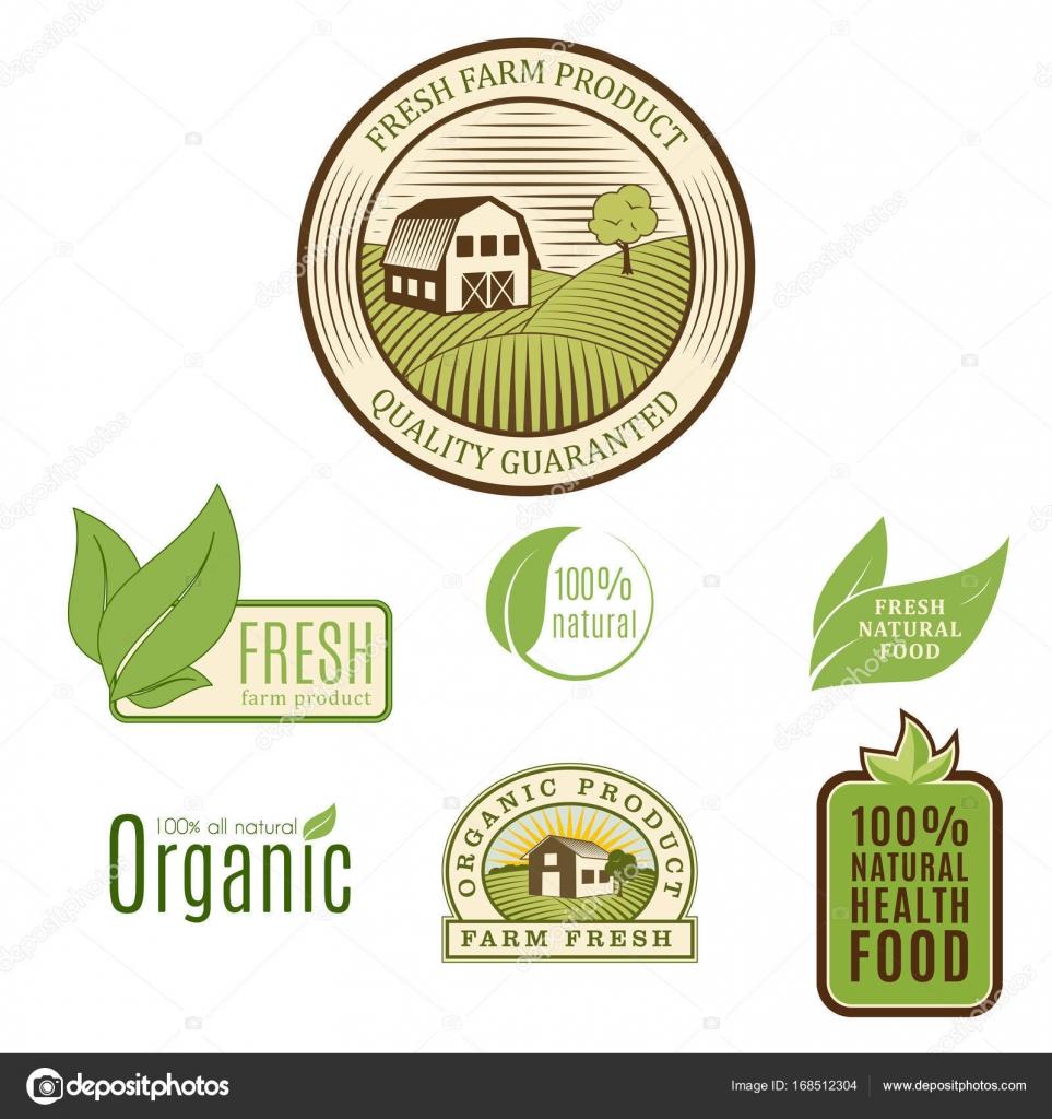 Bio Bauernhof Bio Öko gesundes Essen Vorlagen und Vintage Vegan ...