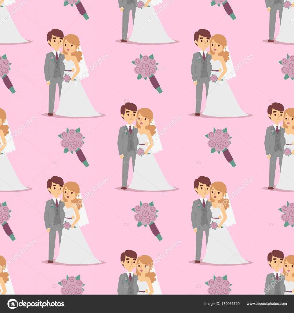 Pareja de boda es abrazarse mutuamente vector patrón transparente ...