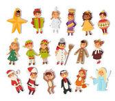 Obrázek vánoční karnevalový kostým děti vektor