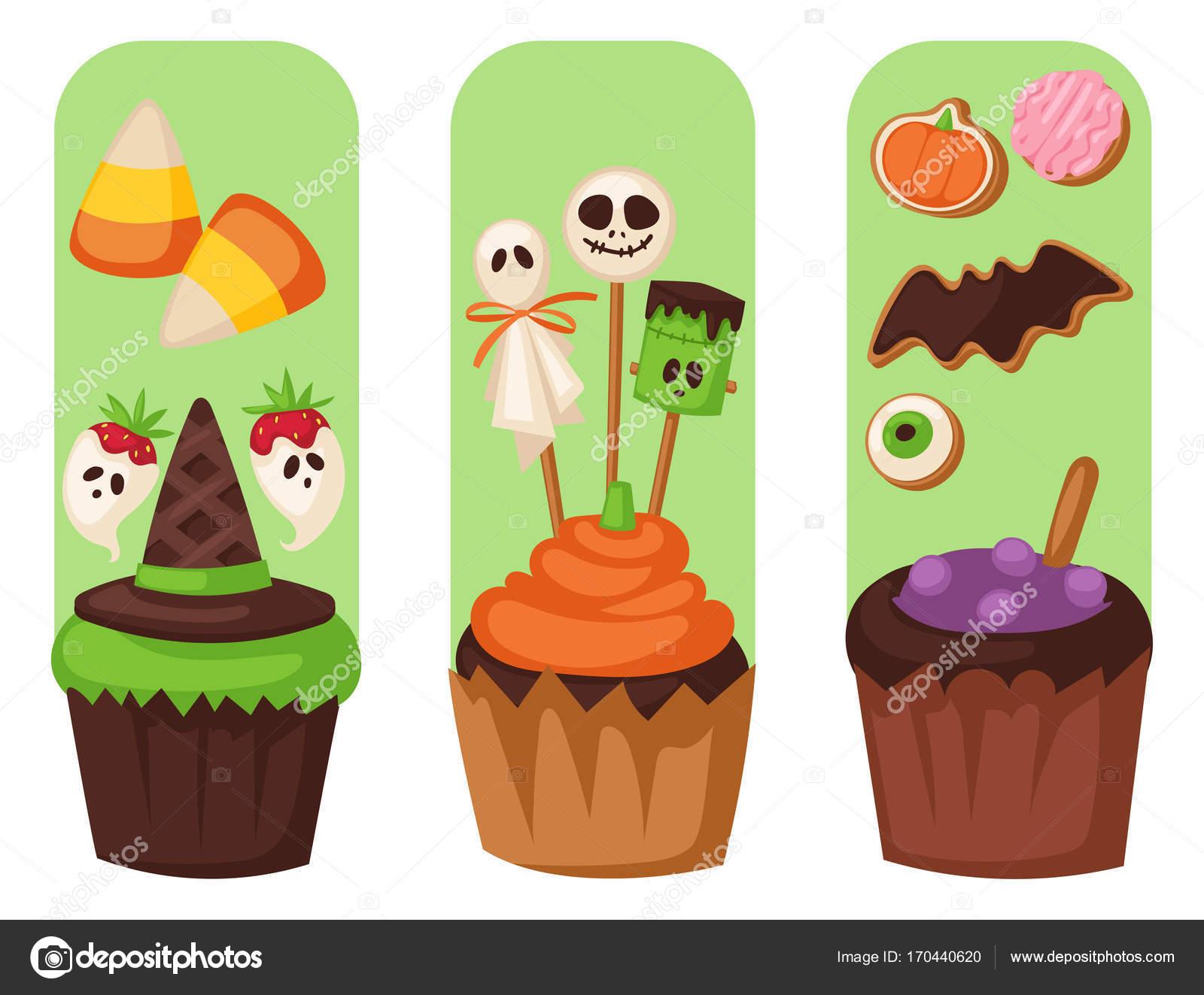 Halloween Cookie essen Karten Nacht Kuchen Partei Flayer Süßigkeiten ...