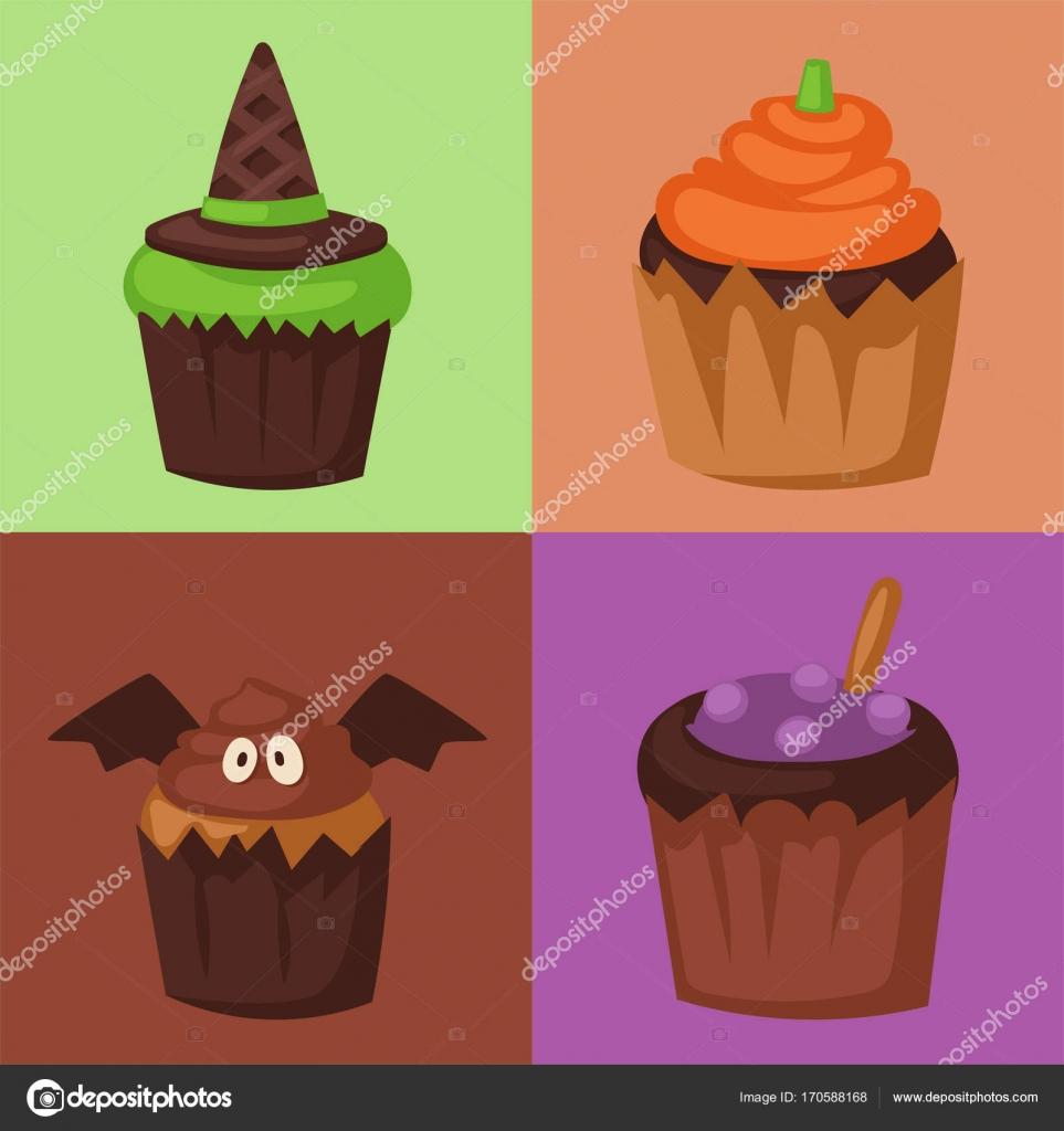 Halloween Cupcake Cookie Nahrungsmittelkuchen Nacht party Süßes oder ...