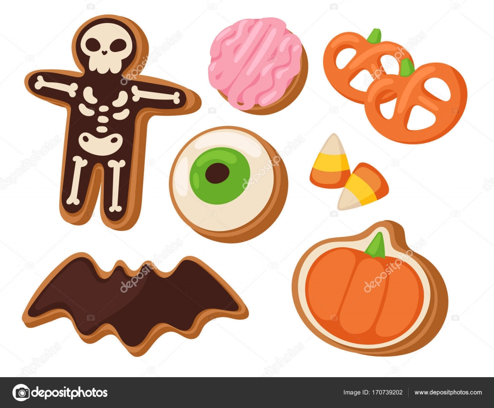 Halloween Cookie Symbole der Nacht Nahrungsmittelkuchen party Süßes ...