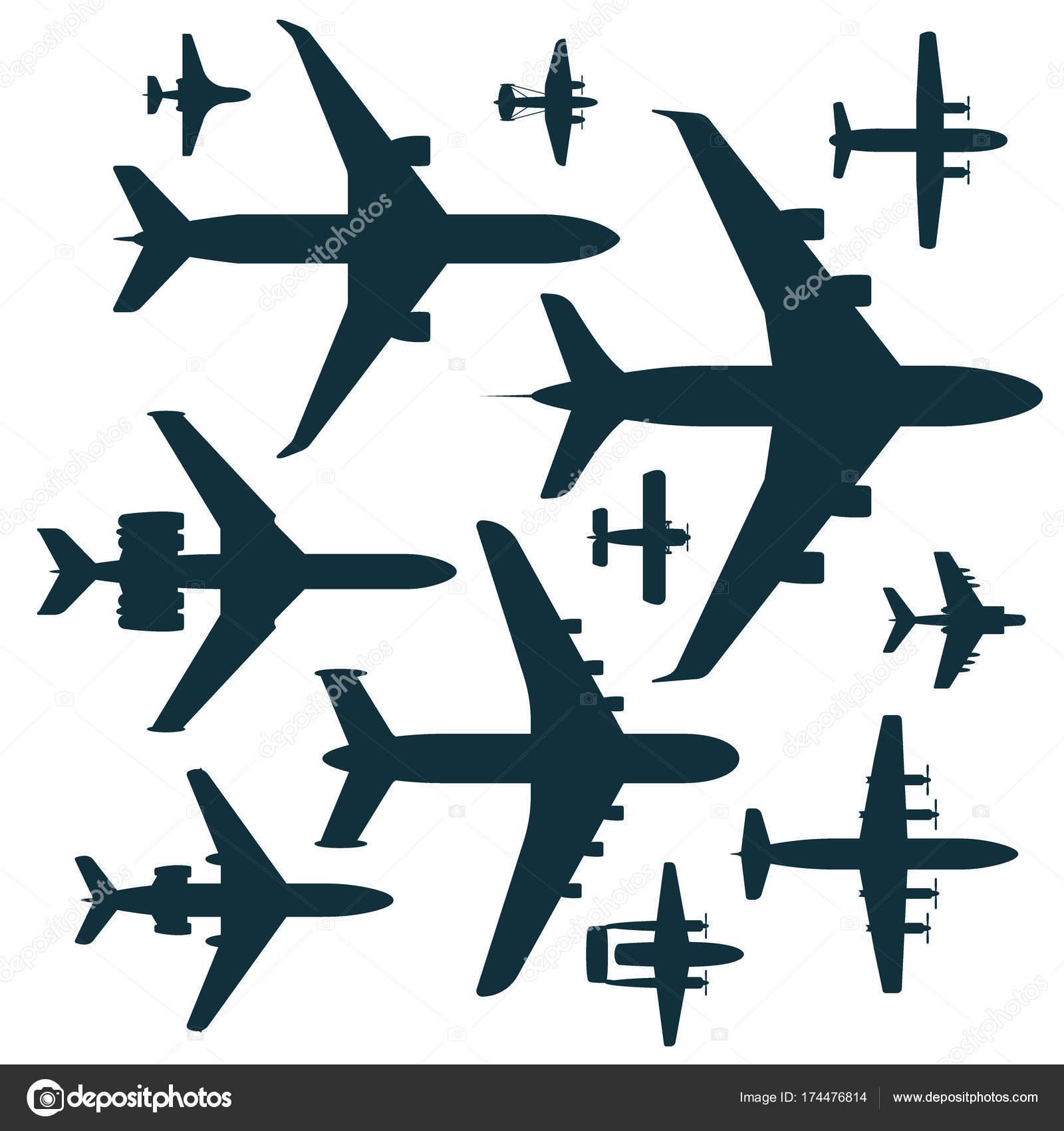 ベクトル飛行機イラスト シルエット航空機輸送旅行の方法デザイン旅速
