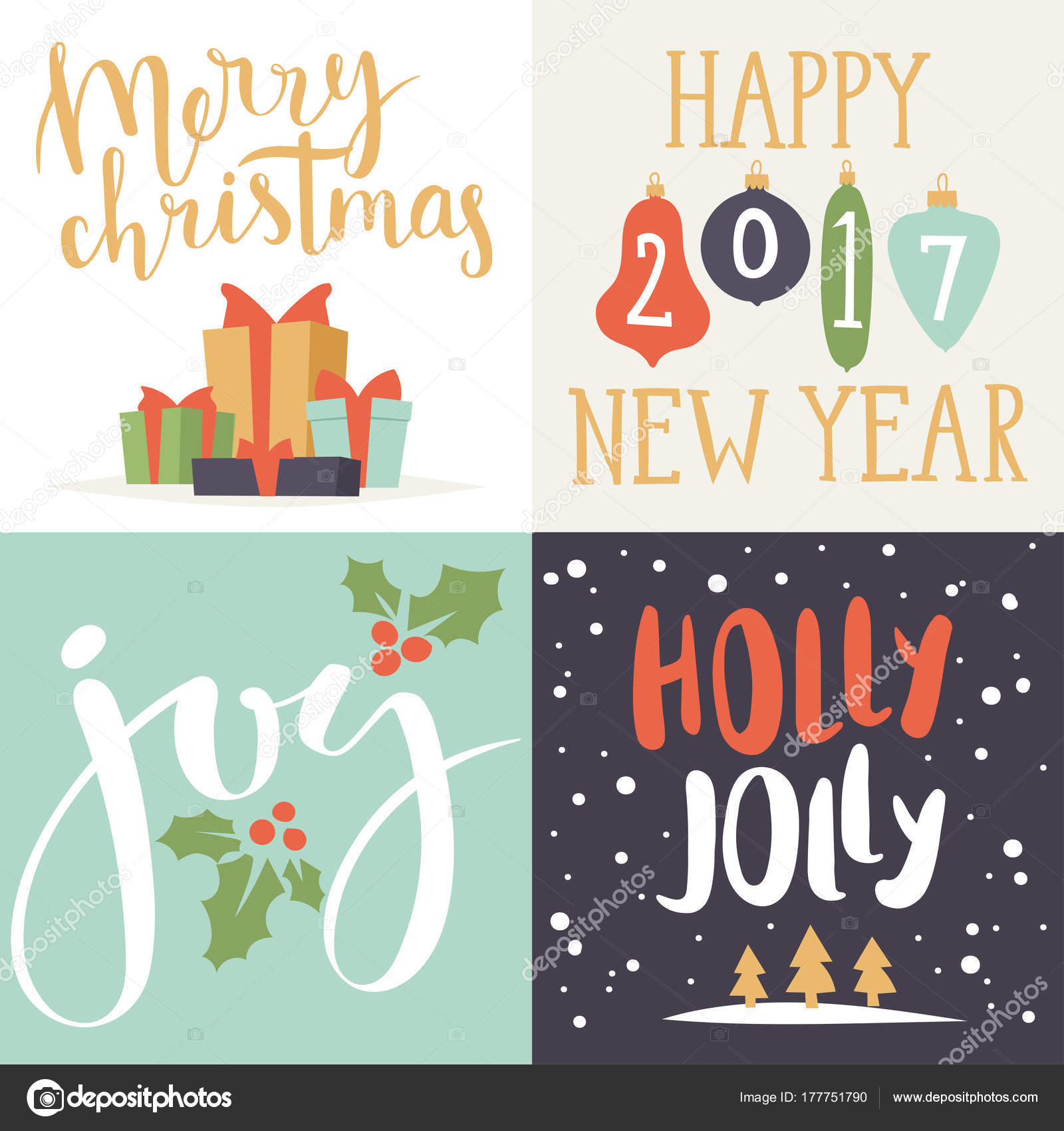 Christmas Greeting Card Vector Background Banner Holidays Winter