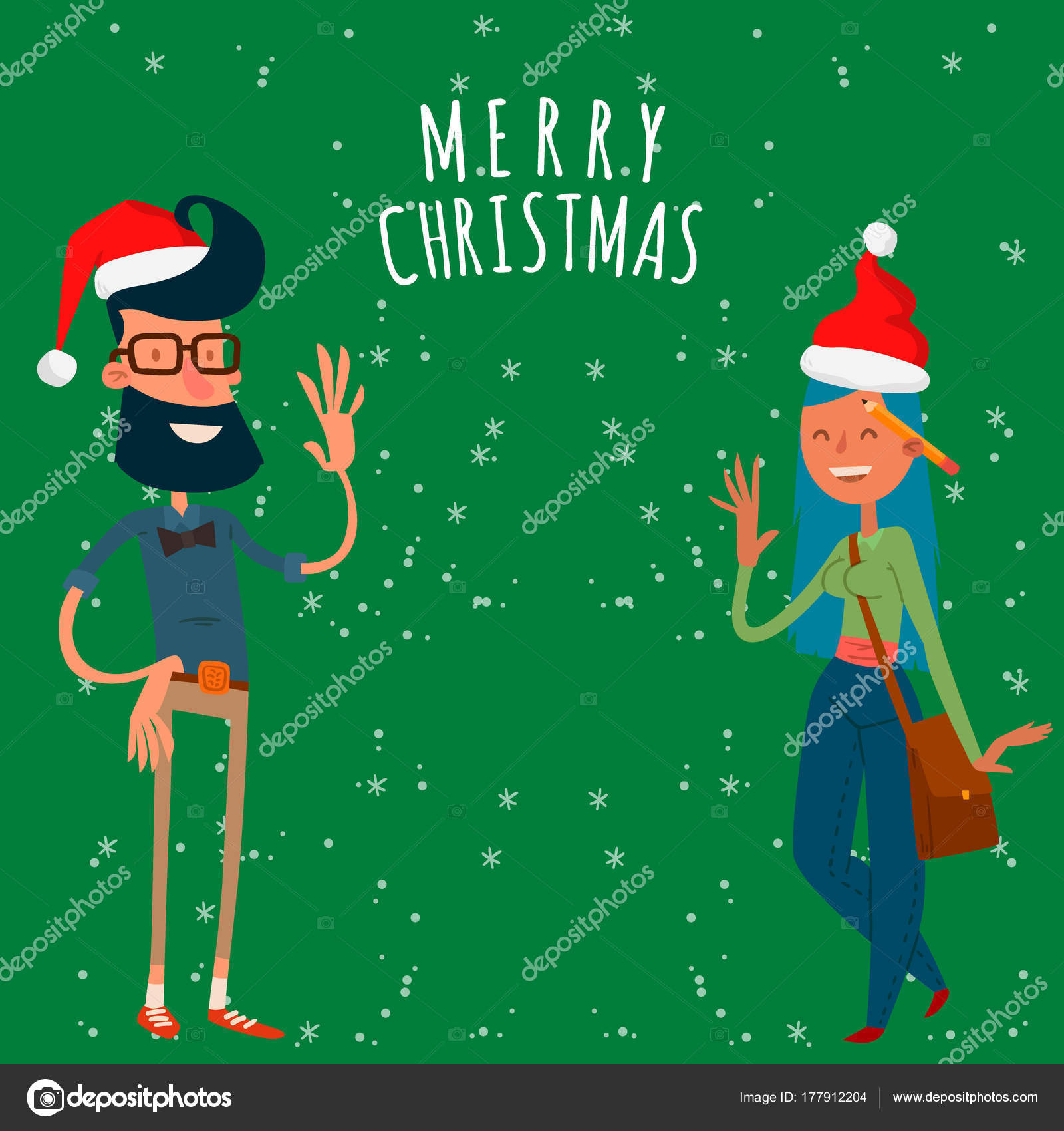 Christmas greeting card business people vector background banner christmas greeting card business people vector background banner holidays winter xmas hand draw businessman congratulation new m4hsunfo