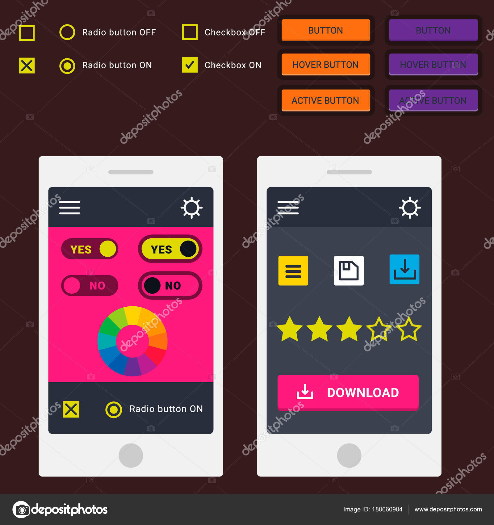 User interface vector phone laptop tab device mobile app indicators user interface vector phone laptop tab device mobile app indicators download progress ui ux web interface design template file upload illustration maxwellsz