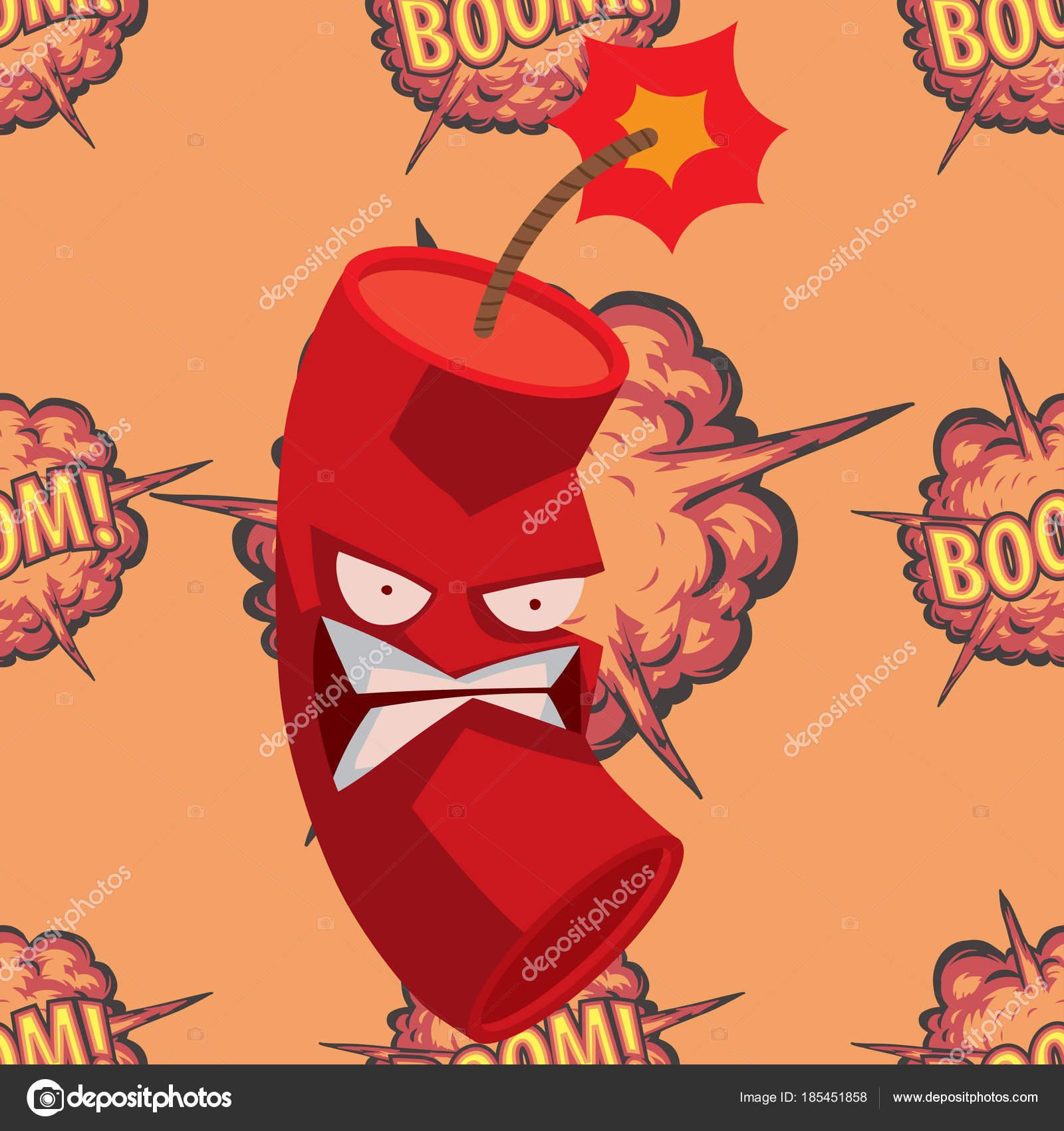 Bomb dynamite fuse vector illustration grenade attack power