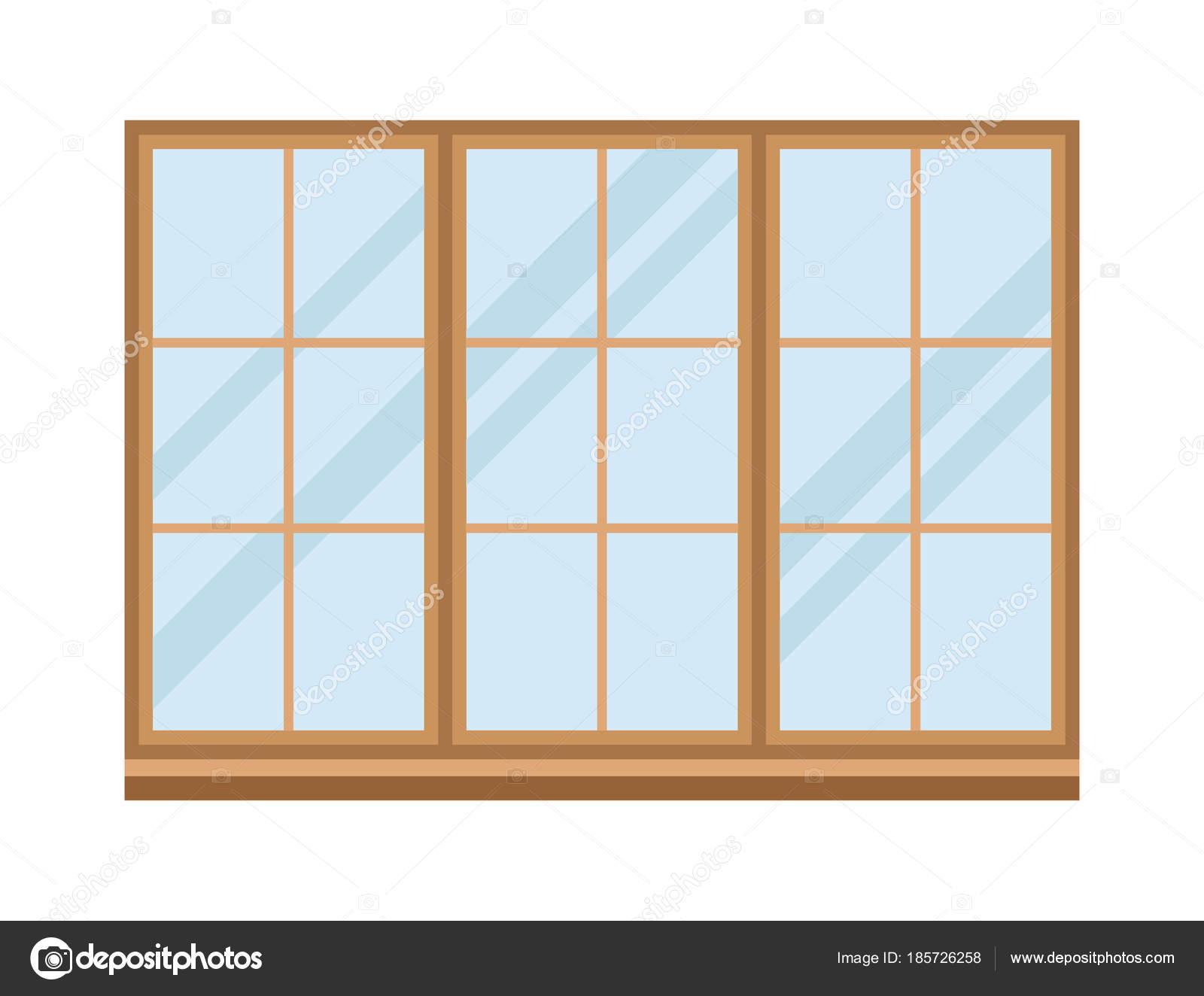 Windows Hauselemente flach Stil Glas Rahmen Bau Dekoration Wohnung ...