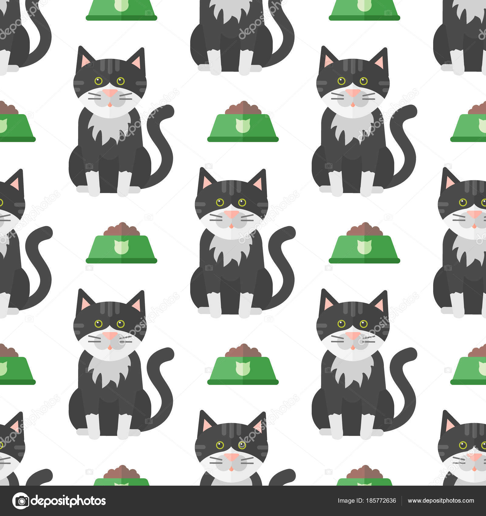 Katzen Köpfe Vektor Illustration niedliche Tiere lustige ...