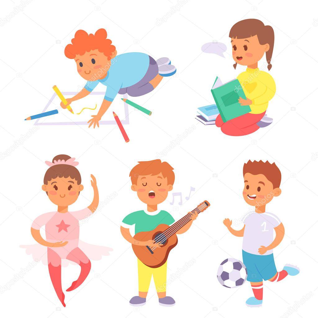 I bambini giocando vector diversi tipi di partite casalinghe ragazzini giocare attivit estiva - Diversi tipi di figa ...