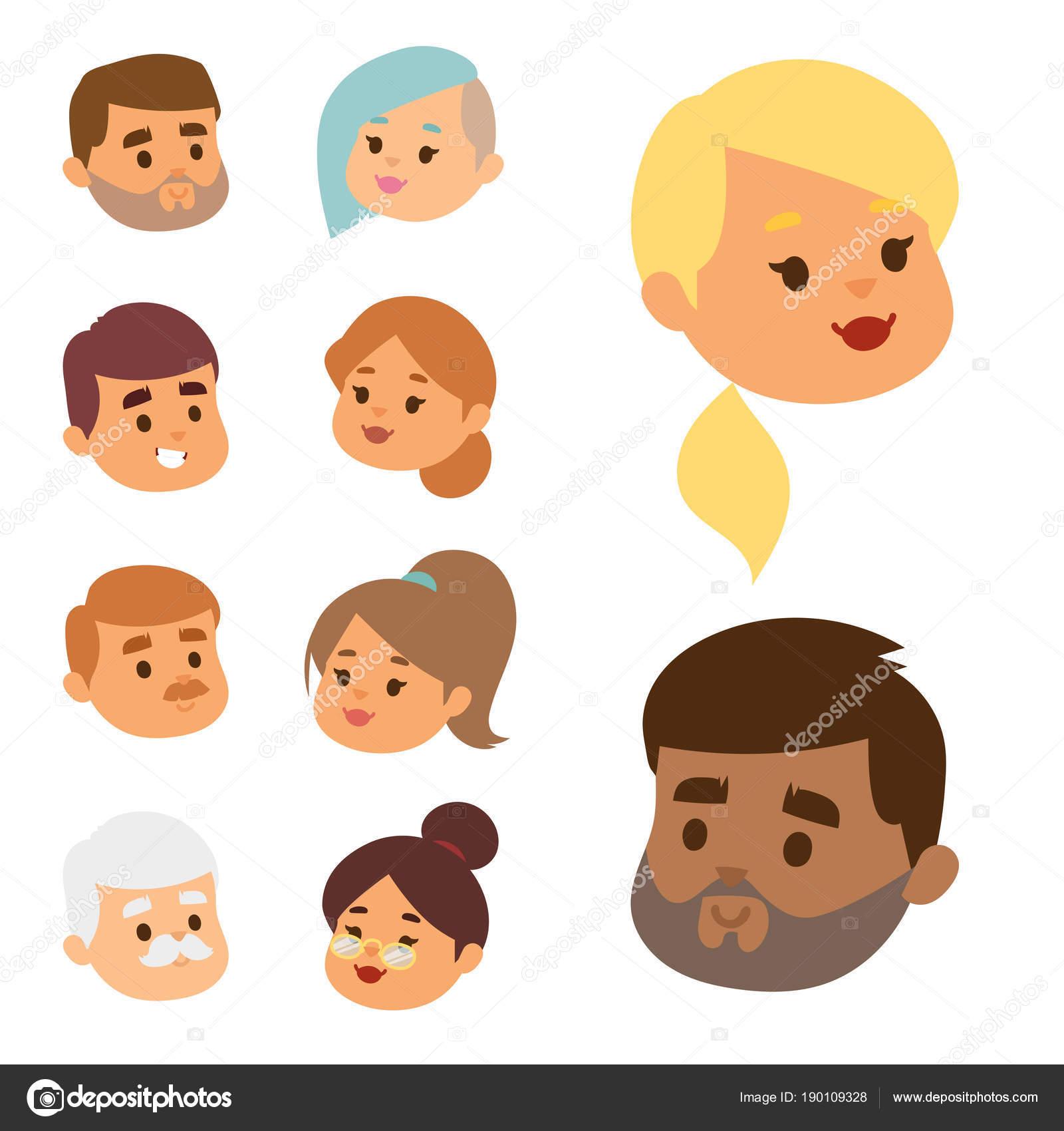Eemotion Vector People Faces Cartoon Emotions Avatar Illustration