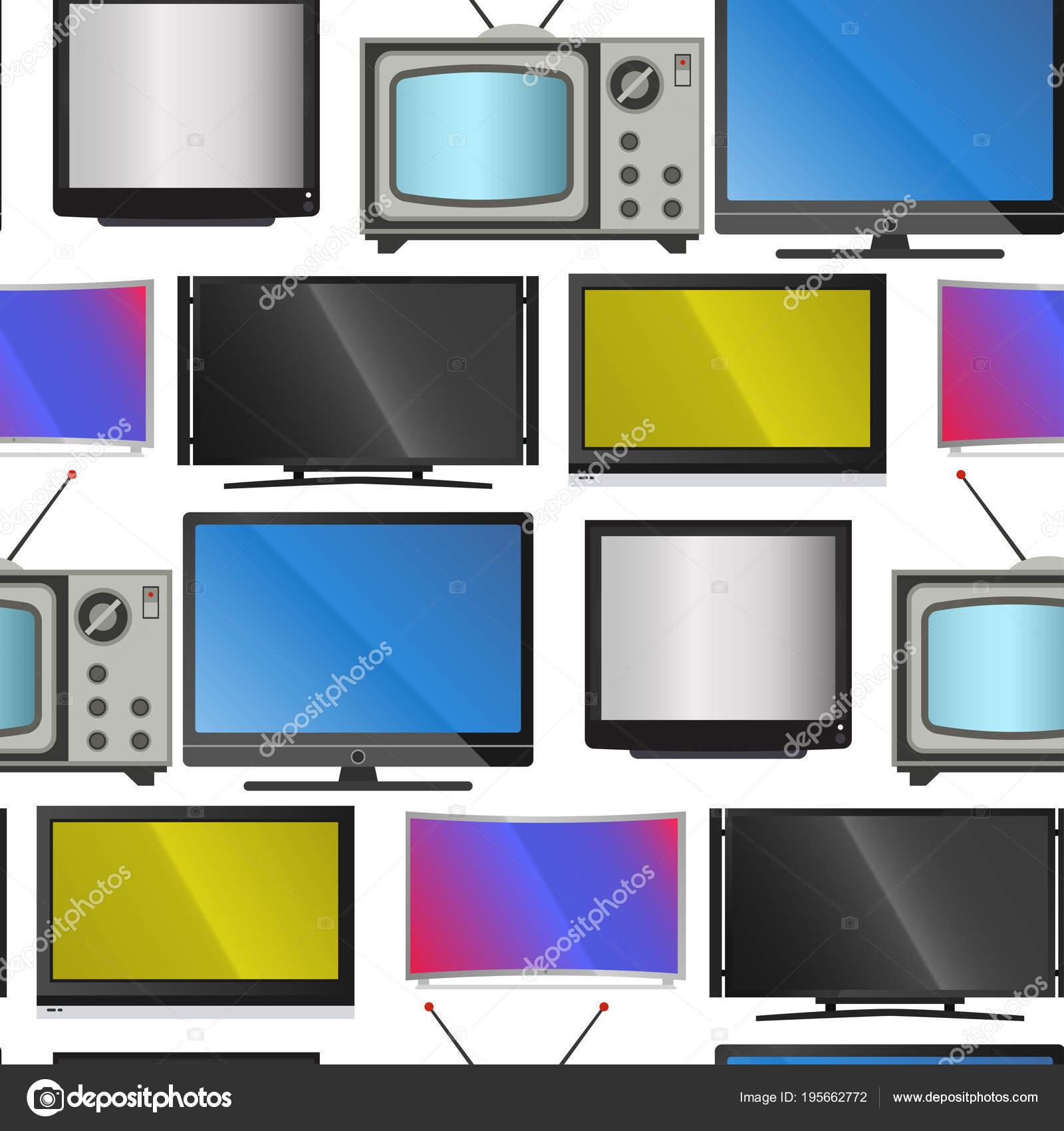 TV-Vektor Bildschirm LCD-Monitor und Notebook, Tablet-Computer ...