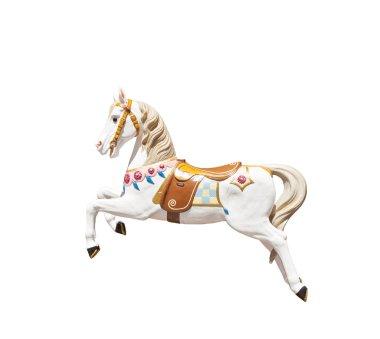 isolated carousel horse
