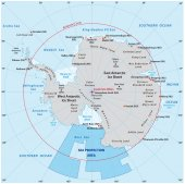 Photo Map of the Antarctic with the new sea protection area in the Ross Sea