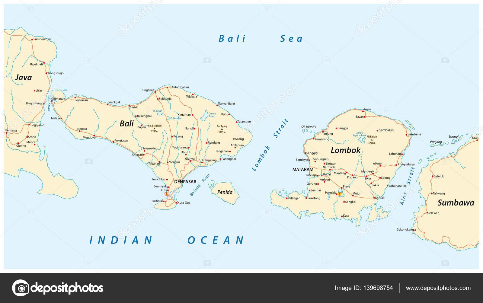 Hoja de ruta de bali islas sunda menores de indonesia y lombok hoja de ruta de bali islas sunda menores de indonesia y lombok archivo imgenes vectoriales gumiabroncs Image collections