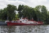 Požární člun hasičů ve Frankfurtu Professional