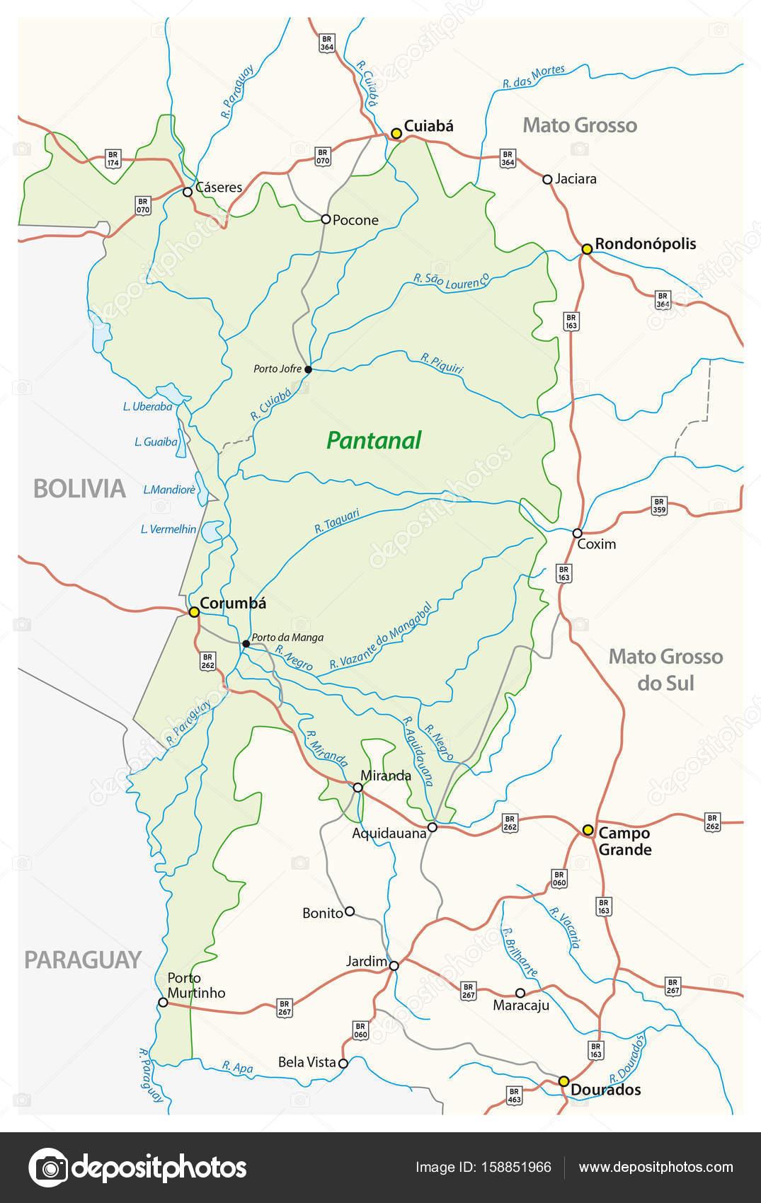 Brasilien Karte Welt.Karte Pantanal Das Größte Tropische Feuchtgebiet Der Welt