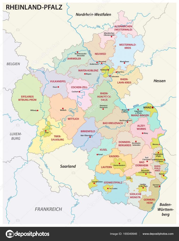 Landkreise Rheinland Pfalz Karte