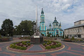 Fotografie Blaue Kirche in Mostyska, Ukraine