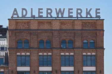 Building of the Adlerwerke in Frankfurt, Germany