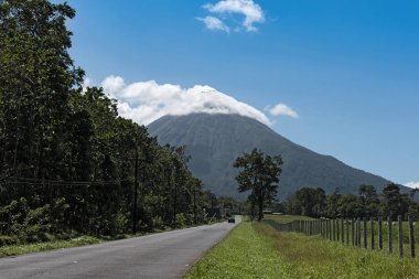 Road to the active volcano Arenal in Costa Rica