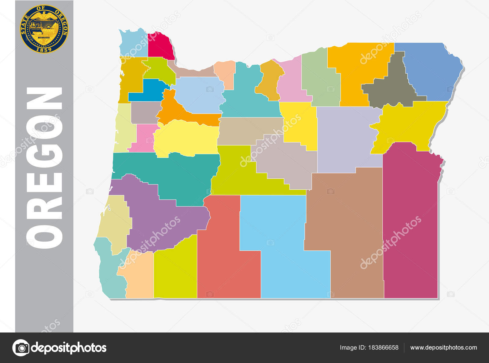 Political Map Of Oregon on