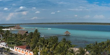 Panoramic view from the fort of San Felipe to Bacalar Lagoon