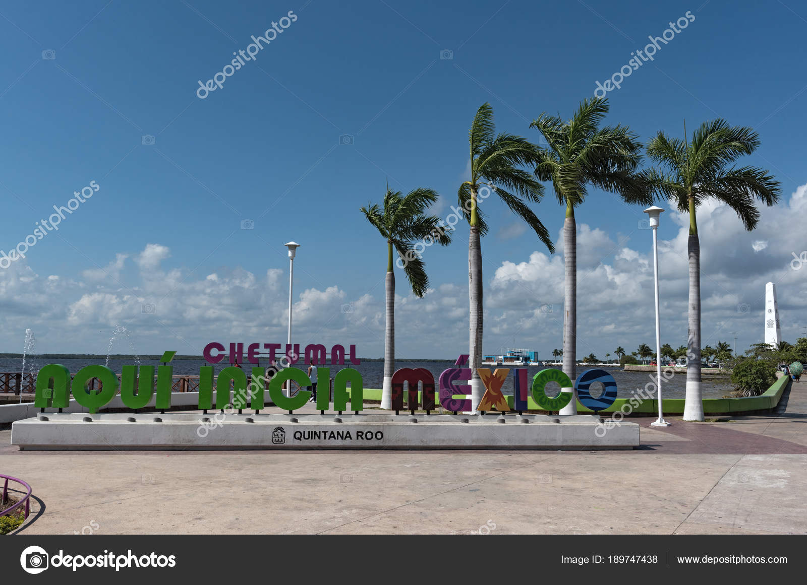 Chetumal Mexico March 2018 Colored Lettering Mexican City Chetumal Quintana Stock Editorial Photo Lesniewski 189747438
