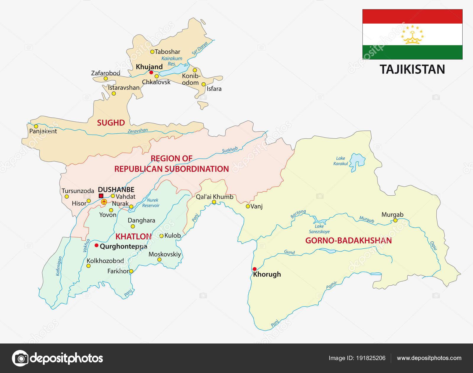 タジキスタンの行政区画