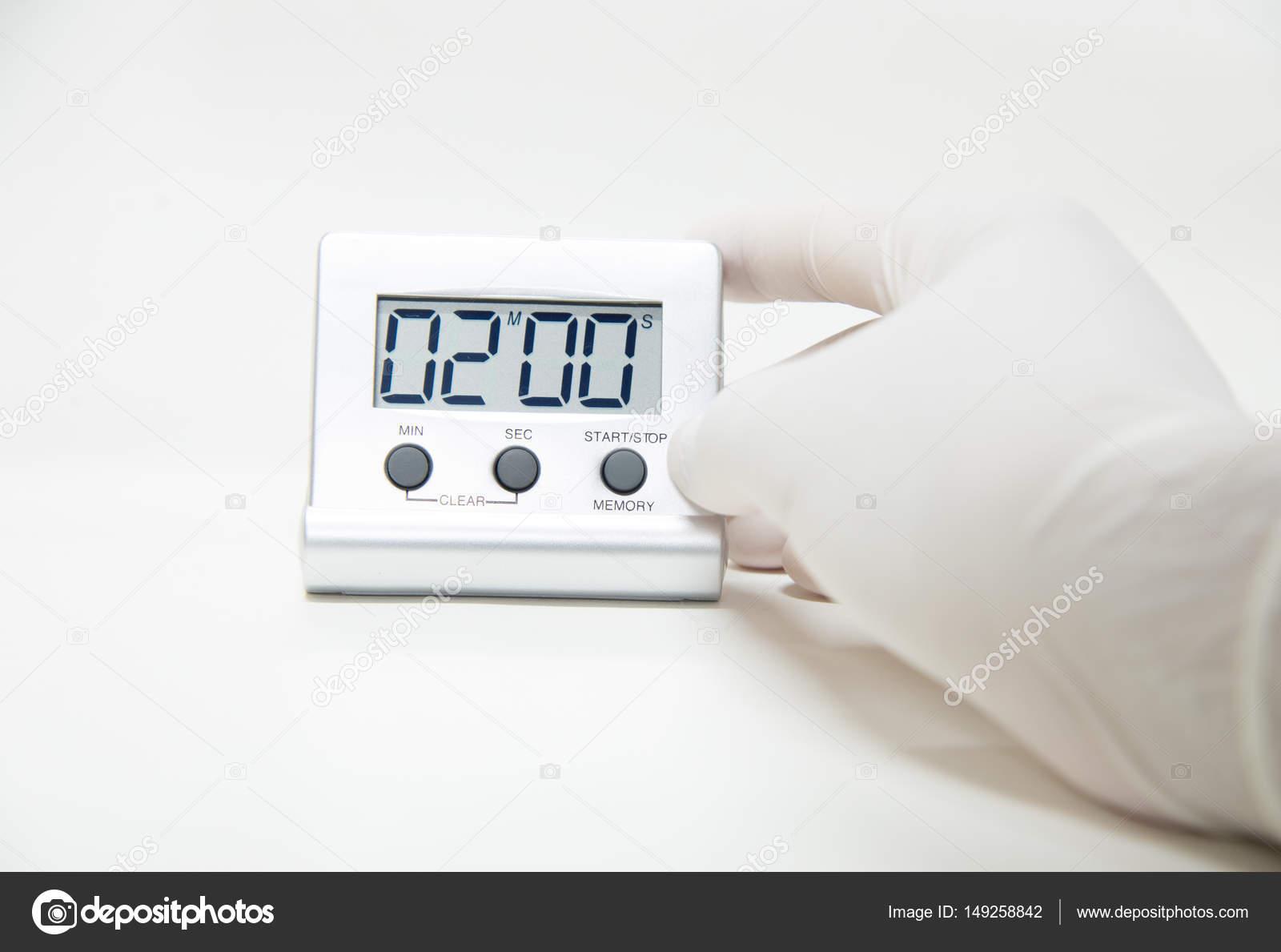 Equipo de laboratorio temporizador pruebas couting dow de tiempo ...