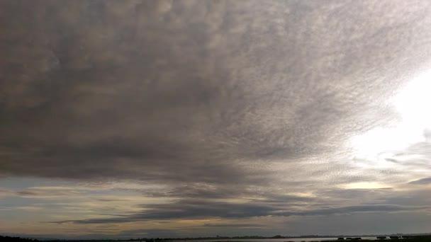 Storm cloud on sky