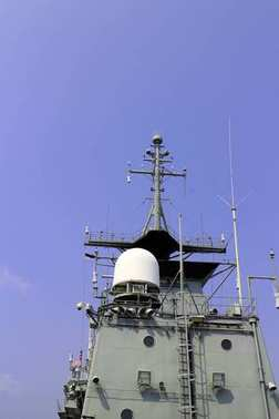 Radar on gun ship.
