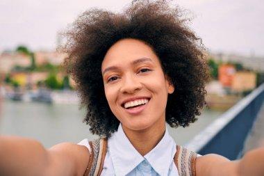 Mixed race tourist woman travel concept stock vector
