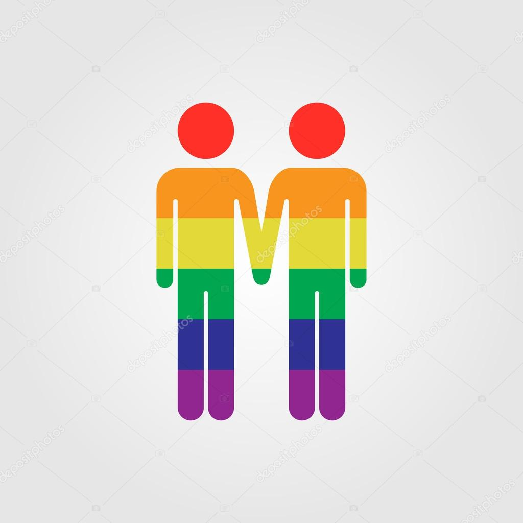 Gay paar Vektor icon — Stockvektor © soloviika #128236572