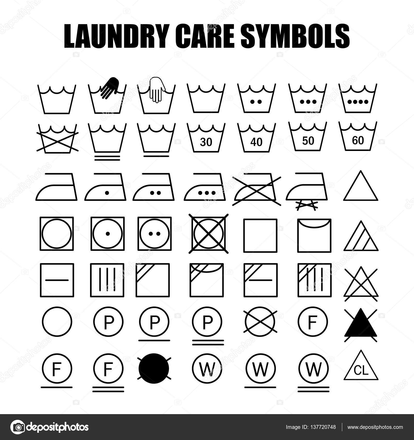 Laundry care symbols set stock vector soloviika 137720748 laundry care symbols set stock vector buycottarizona Gallery