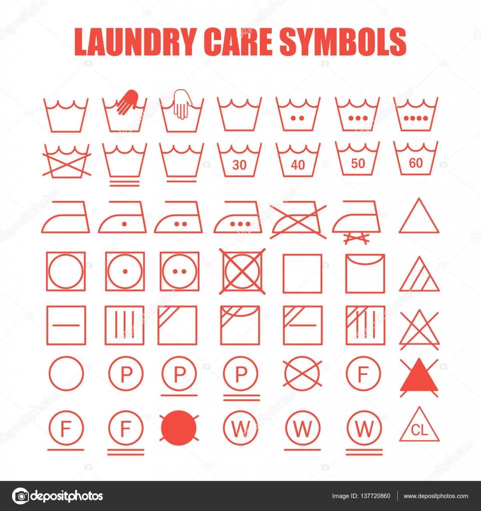 Laundry care symbols set — Stock Vector © soloviika #137720860
