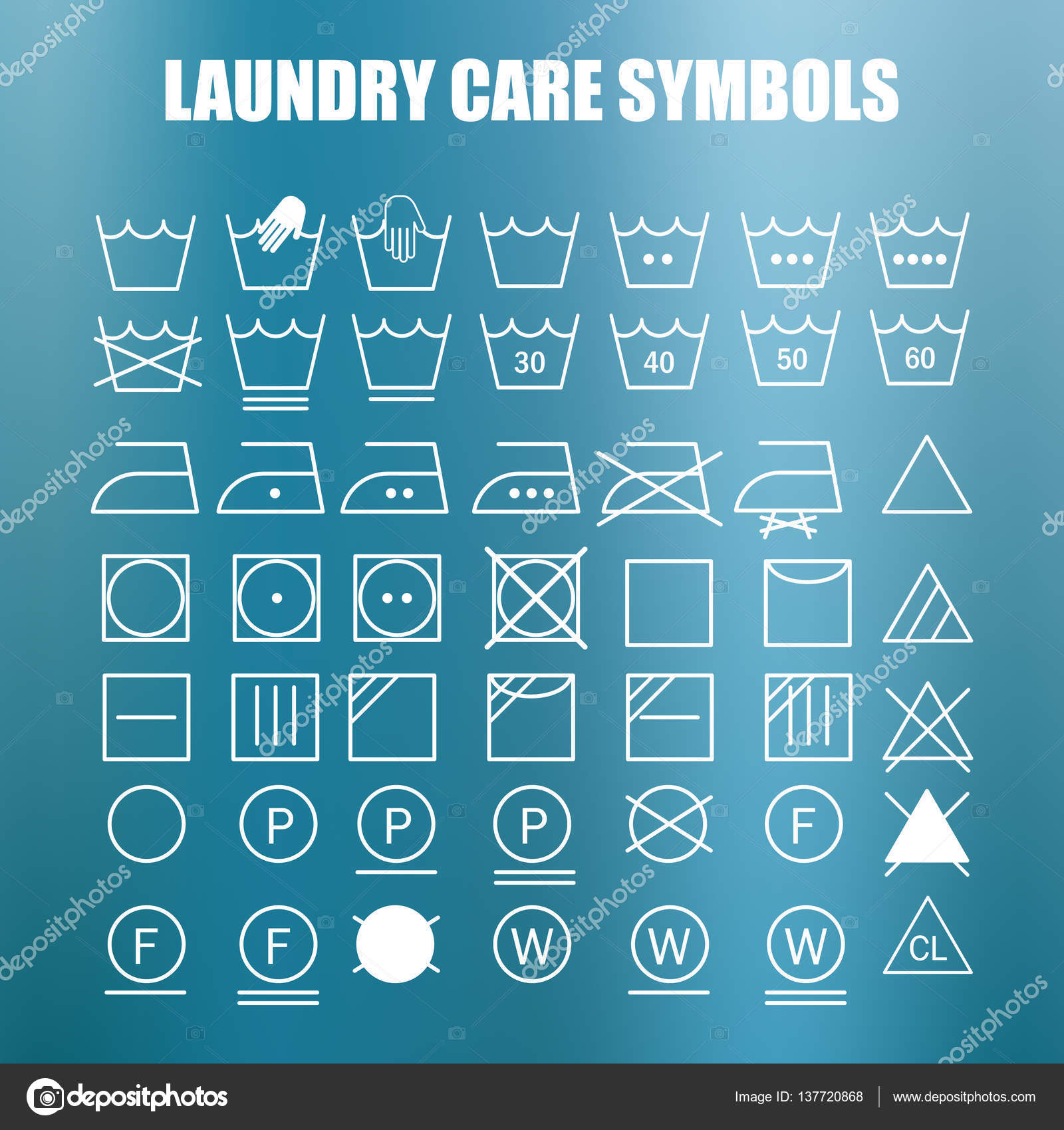 Laundry care symbols set stock vector soloviika 137720868 laundry care symbols set stock vector biocorpaavc Image collections