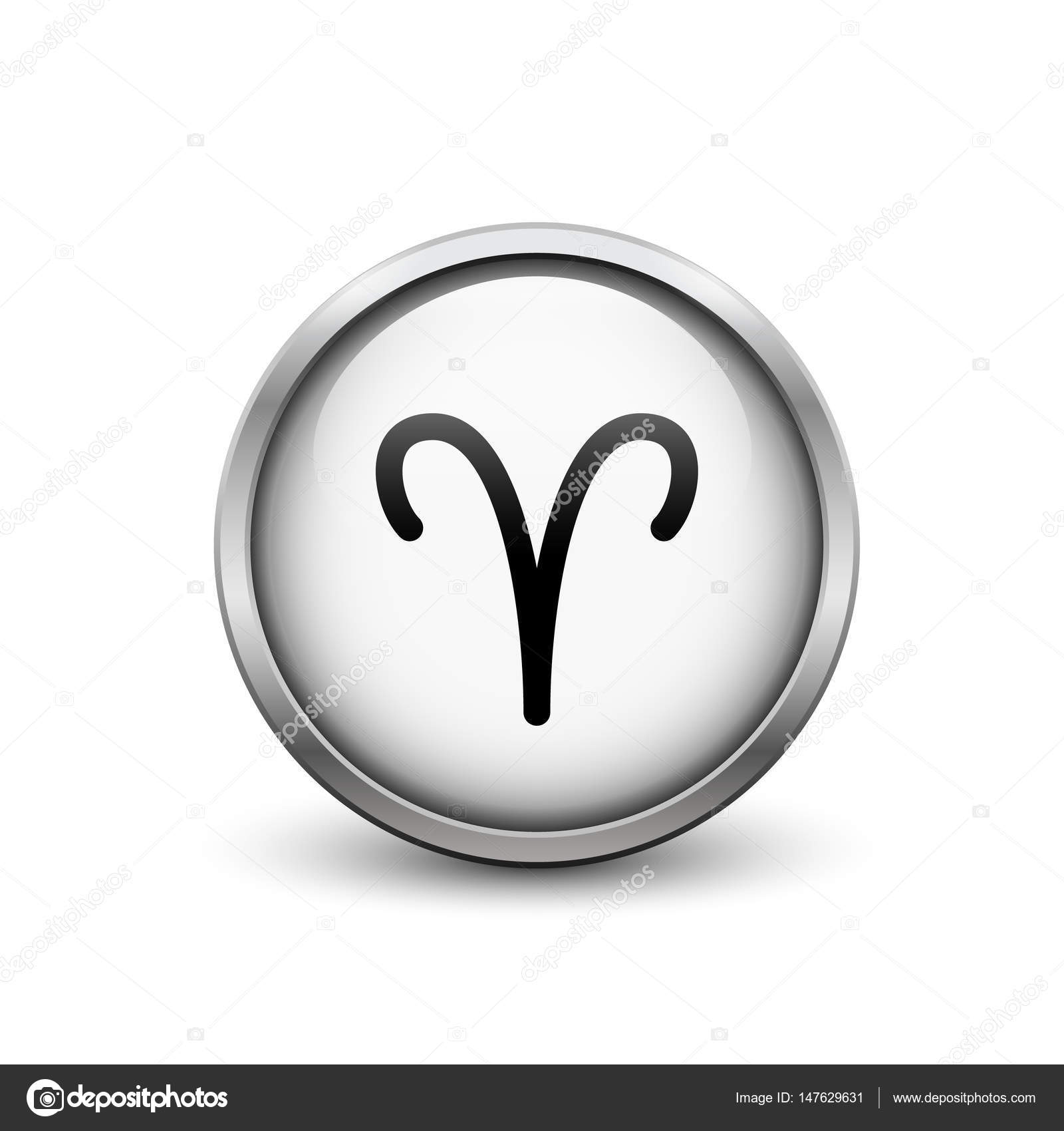 Aries Zodiac Symbol Stock Vector Soloviika 147629631