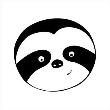 Vector is a sloth. Hand-drawn illustration