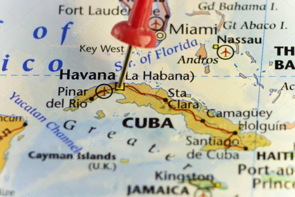Havanna Kuba Karte.Kapitol Von Havanna Kuba Merken Karte Stockfoto Llucky78 129328454