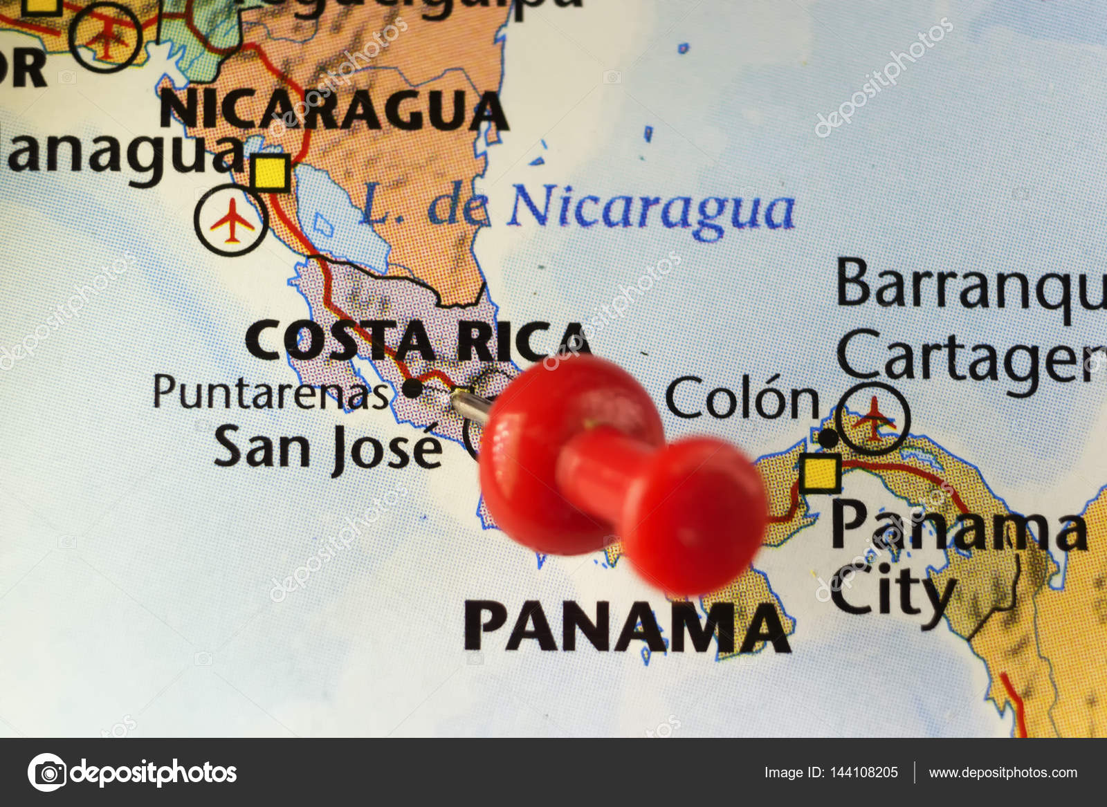 San Jose, Costa Rica pinned map — Stock Photo © llucky78 ...