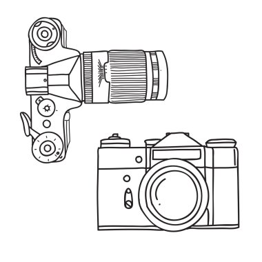 Vintage camera. Vector illustration
