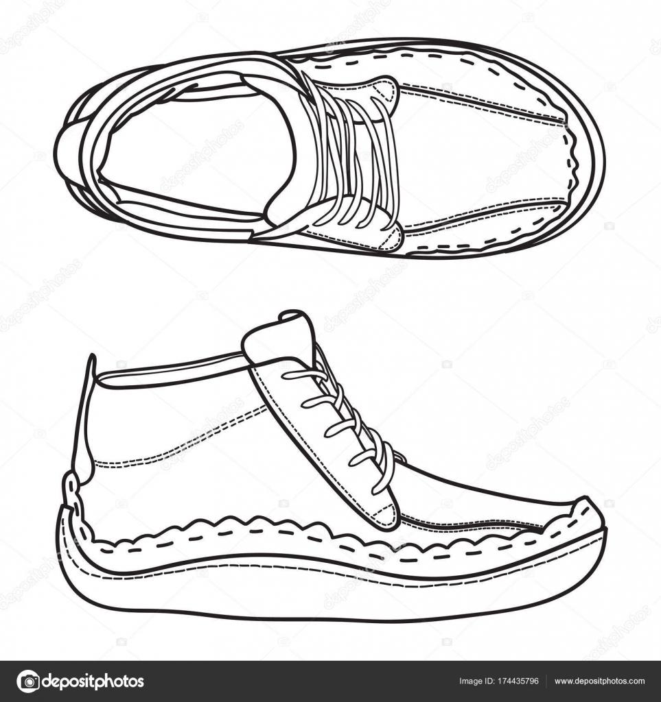 Zvmqspu A Manoscarpe Ginnastica— Disegnate Stock Vettoriali Da Sneakers 3FTlK1Jc