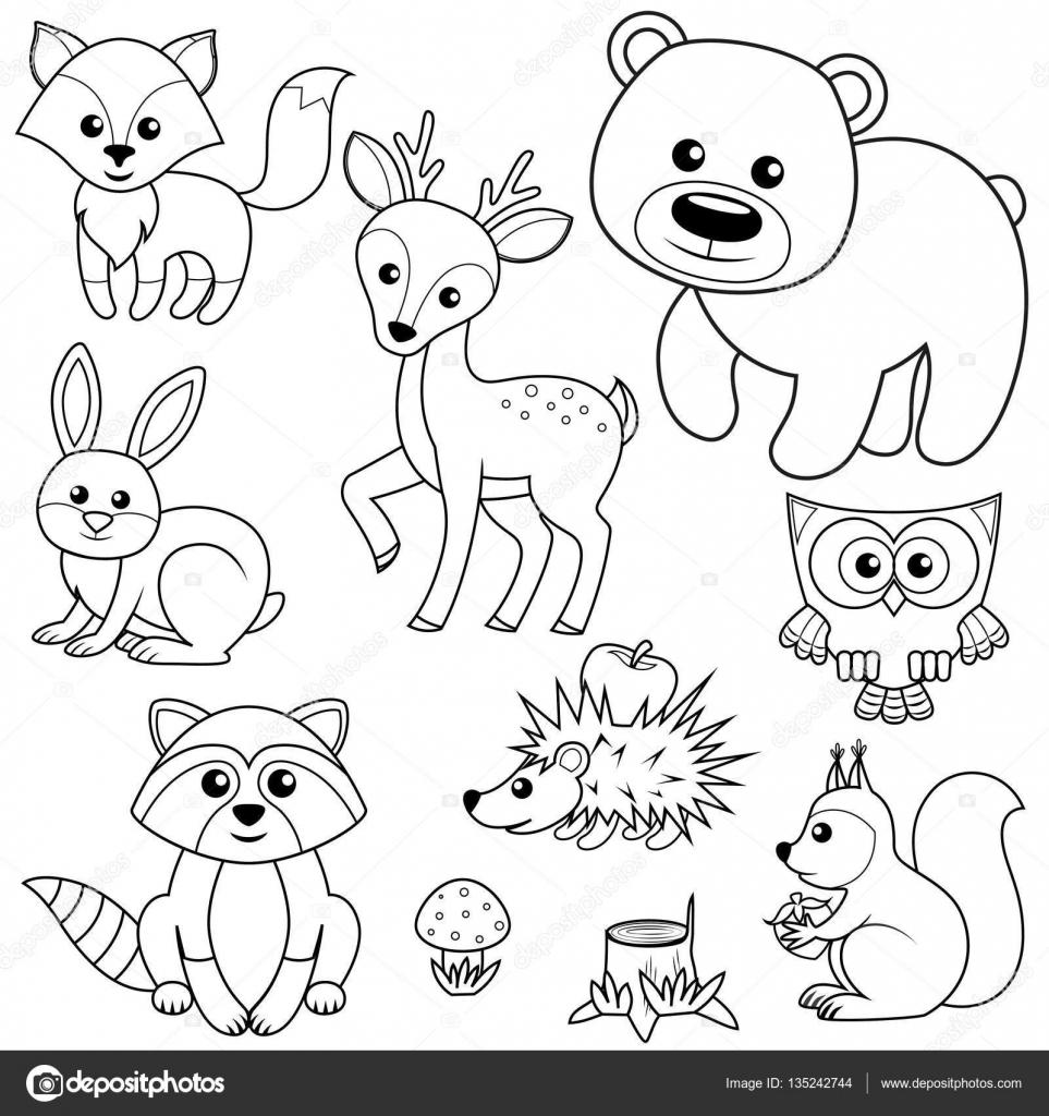 Dibujos Animales Del Bosque Animales Del Bosque Zorro El Oso